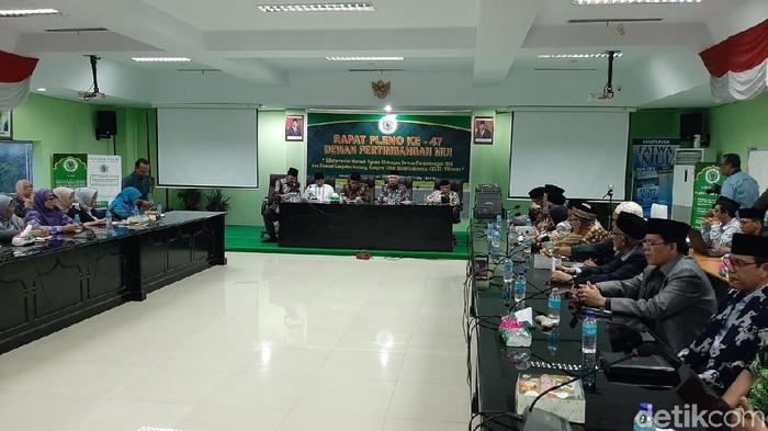 Menag Fachrul Razi membuka Rapat Pleno ke-47 Dewan Pertimbangan MUI (Yoki Alvetro/detikcom)