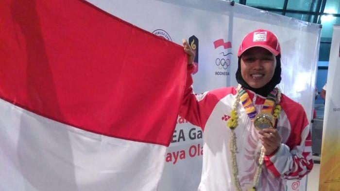 Dwi Cindy Desyana berharap bonus SEA Games 2020 cair. (dok pribadi)