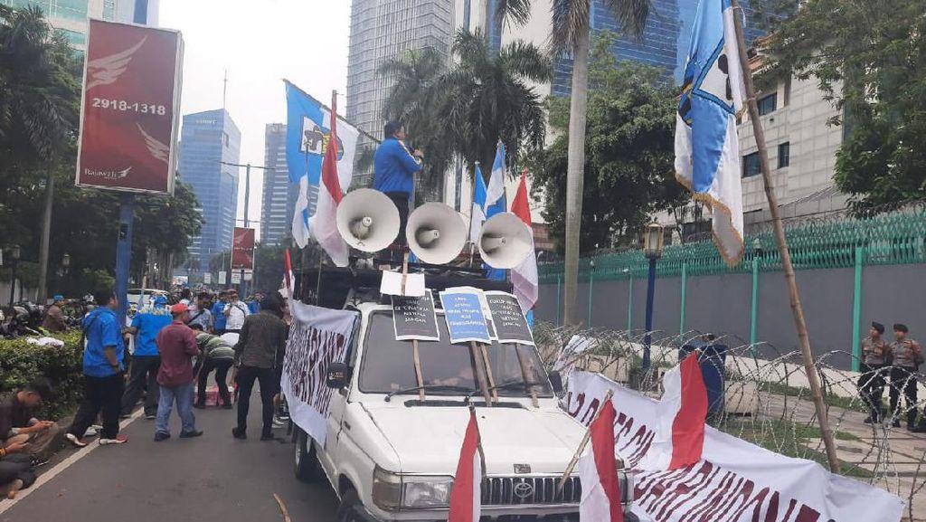 Protes Masalah Natuna, Massa Gelar Demonstrasi di Depan Kedubes China