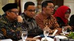 Ekspresi Anies-RK Saat Rapat Bahas Banjir Bareng Jokowi