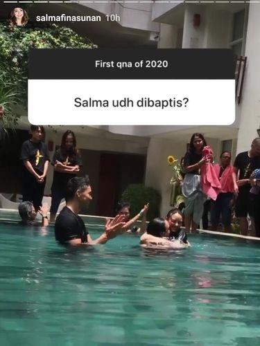 Jawaban Salmafina saat Ditanya soal Baptis
