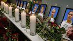 Bunga dan Lilin untuk Korban Pesawat Ukraine Airlines