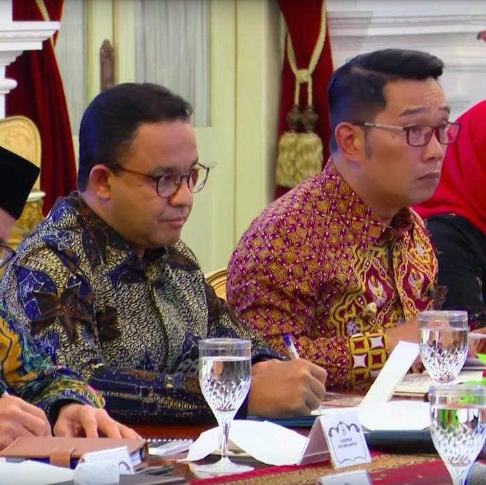 Presiden Joko Widodo mengundang Gubernur DKI Anies Baswedan, Gubernur Jabar Ridwan Kamil, dan Gubernur Banten Wahidin Halim serta bupati dan walikota yang daerahnya terdampak banjir, Rabu (8/1/2020).