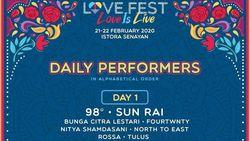 Rayakan Bulan Penuh Cinta di Love Fest 2020, Ini Harga Tiketnya