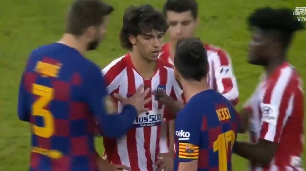 Messi Ribut dengan Felix, yang Dikartu Kuning Malah Suarez