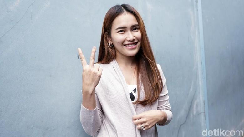 Ayu Ting Ting jelang konser Foto: Palevi S/detikFoto