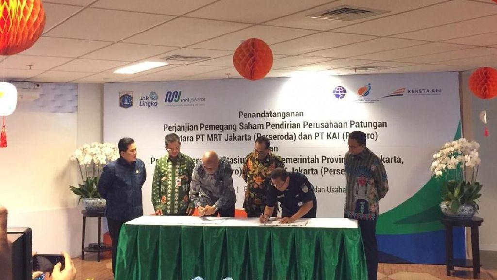Erick Thohir-Anies Baswedan Kawinkan KAI & MRT, Ini Hasilnya