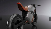 Dikutip MCN, motor hybrid bergaya Racer Electric Concept ini sudah diperkenalkan pada ajang Consumer Electronics Show di Las Vegas. Berbagai kelebihan dijanjikan bakal terselip pada motor ini. Foto: Pool (MCN)