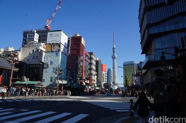 Untuk kategori menara tertinggi di dunia, Jepang menjadi tuan rumahnya. Yaitu Tokyo Skytree dengan tinggi 634 meter yang berada di Sumida, Tokyo. (Syanti/detikcom)