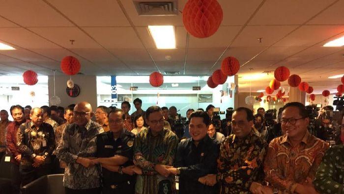 Peresmian kerja sama PT KAI dengan PT MRT Jakarta/Foto: Vadhia Lidyana
