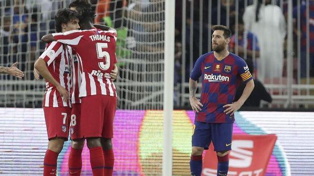 Barcelona kalah 2-3 dari Atletico Madrid. (