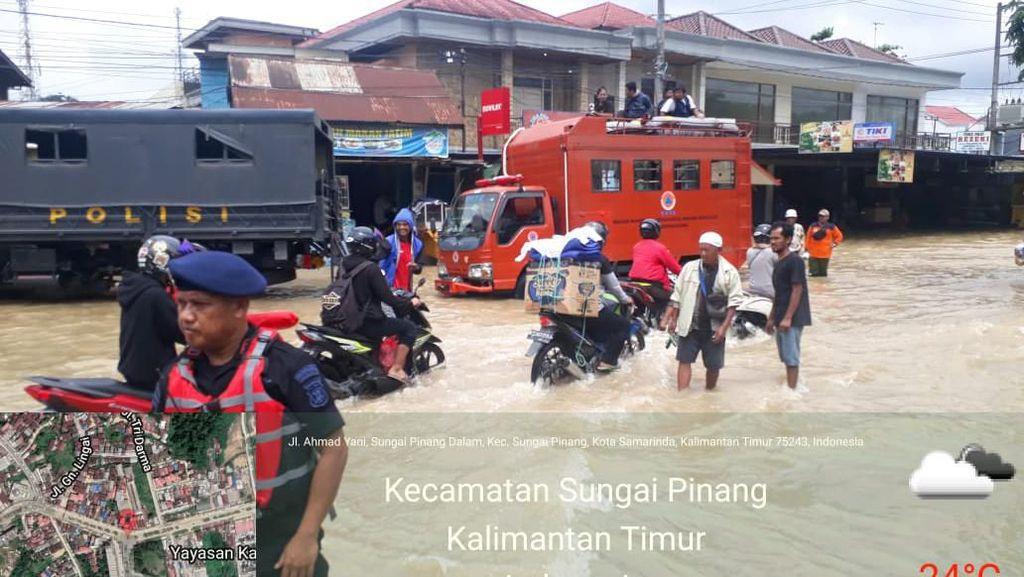 Jalan ke Bandara APT Samarinda Kebanjiran, Begini Penanganan Kemenhub