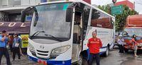 Kemenhub menyiapkan bus untuk mengangkut penumpang.