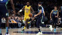 Hasil NBA: James Pimpin Lakers Taklukkan Mavericks 129-114