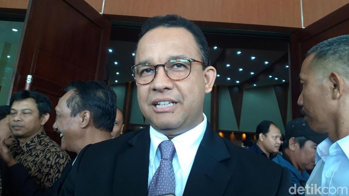 Foto: Gubernur DKI Jakarta Anies Baswedan di kampus IPB. (Rahel-detikcom)