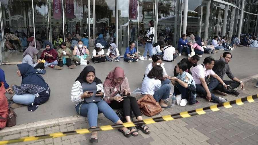 Antrean Panjang Fans Tak Sabar Nonton SuJu