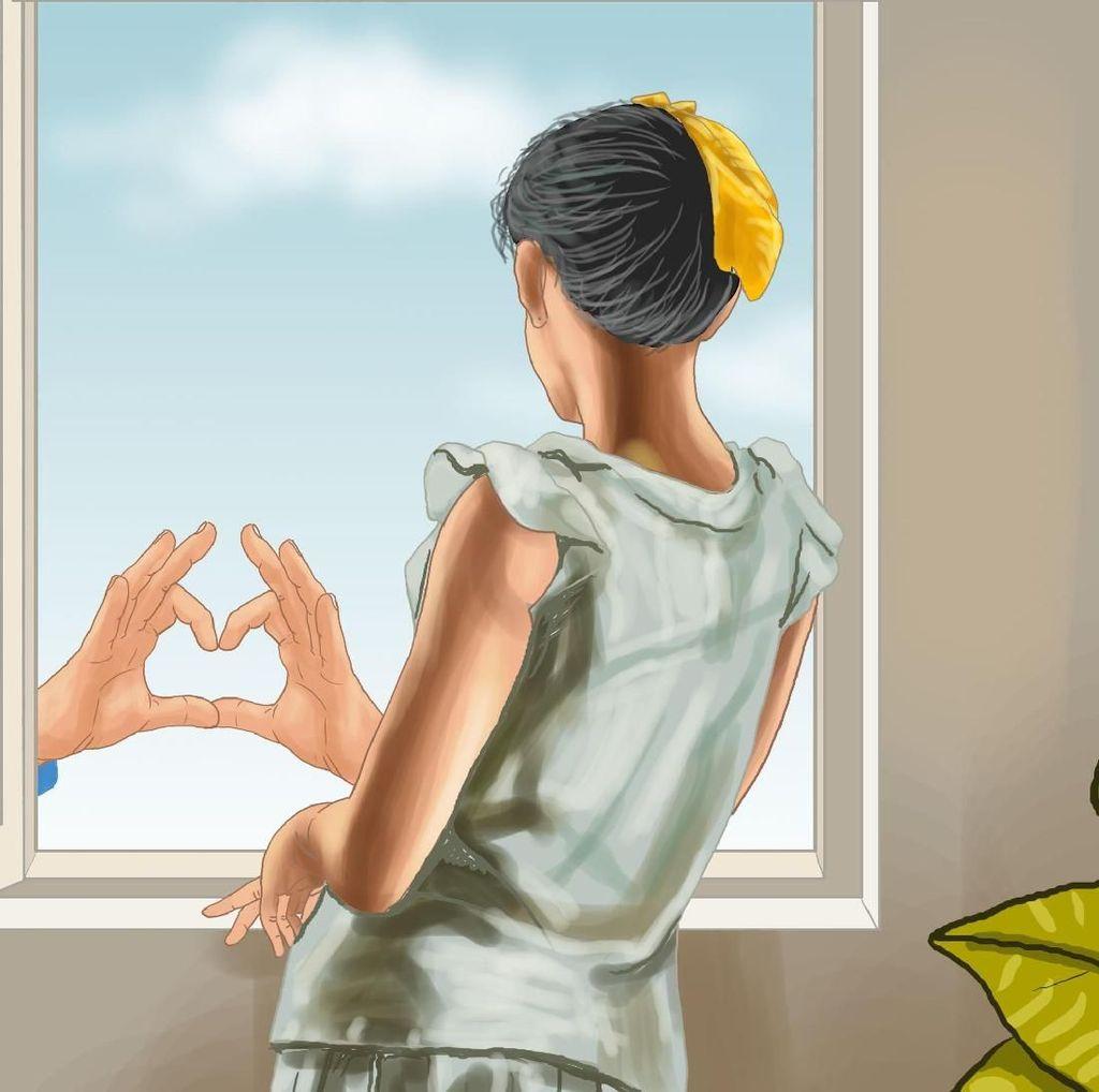 Sepasang Tangan di Jendela
