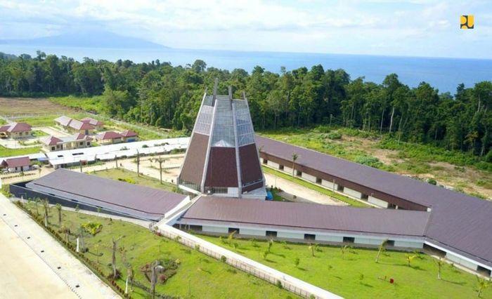 Dukungan infrastruktur Zona Sub Inti merupakan pengembangan dari Zona Inti PLBN yang telah diresmikan Presiden Joko Widodo pada 2017 lalu. Pool/Kementerian PUPR.