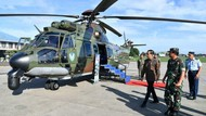 Jokowi Sempat Cek Helikopter Caracal Pengganti Sementara Super Puma