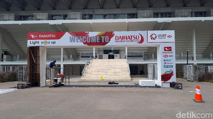 Istora Senayan bersolek jelang Indonesia Masters 2020 (Mercy Raya/detikSport)