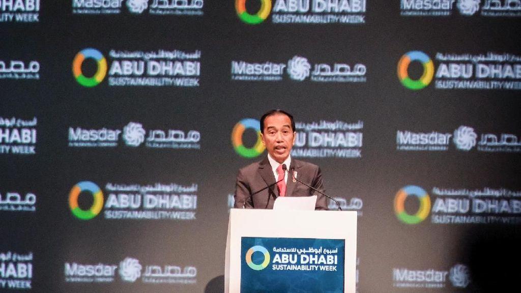 Hadiri Abu Dhabi Sustainability Week, Jokowi Pamer Konsep Ibu Kota Baru