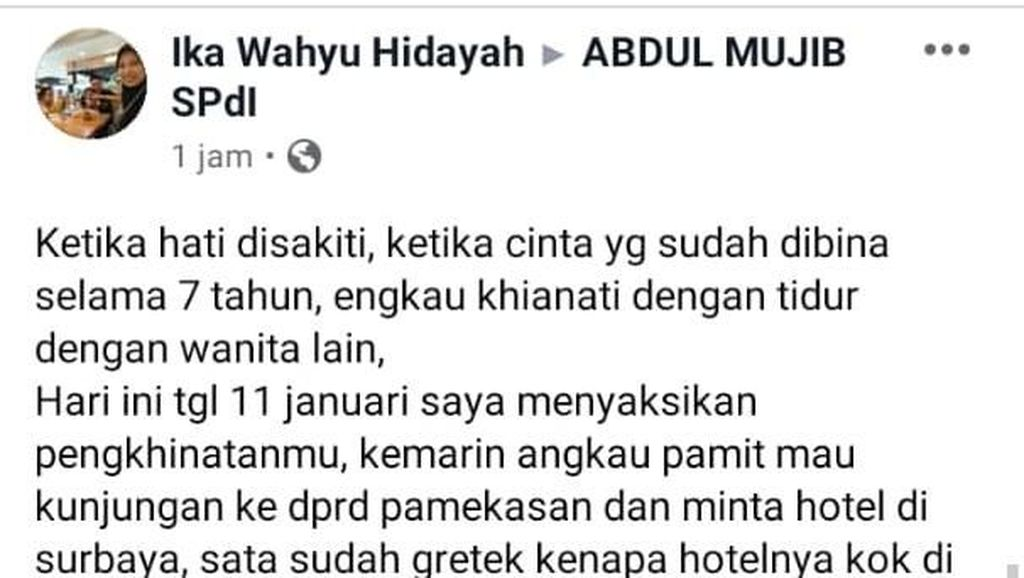 Viral Ketua DPRD Kota Probolinggo Dituding Selingkuh Oleh Istri