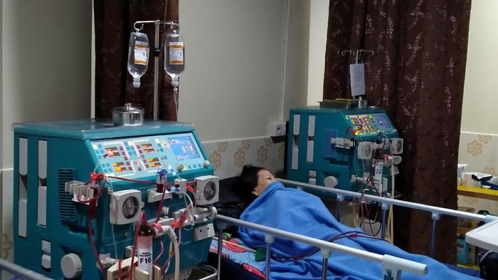 Cuci darah harus rutin dilakukan. (Foto: Achmad Reyhan Dwianto/detikHealth)