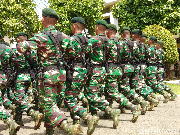 Hermawan Mappiwali-detikcom/ Prajurit TNI di Kodam Hasanuddin Sulsel