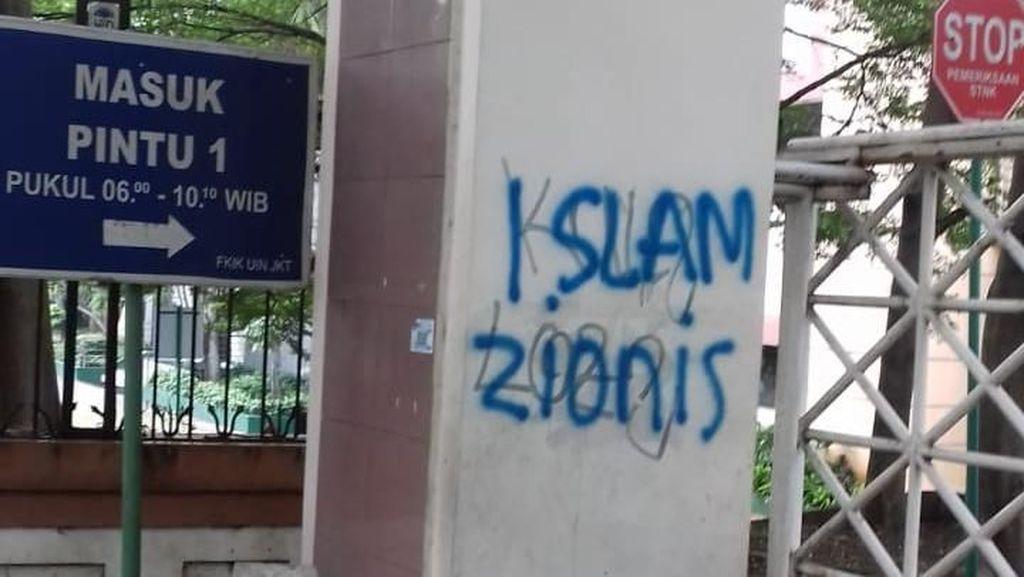 Kampus UIN Jakarta Jadi Korban Vandalisme Islam Zionis, Polisi Turun Tangan