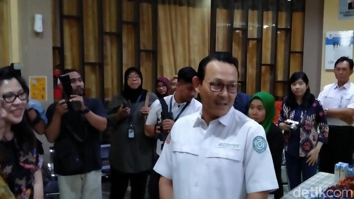 Dirut BPJS Kesehatan, Fachmi Idris (Foto: Achmad Reyhan Dwianto/detikHealth)