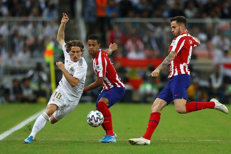 Real Madrid bersua Atletico Madrid dalam partai final Piala Super Spanyol yang berlangsung di King Abdullah Sports City, Jeddah, Arab Saudi, Senin (13/1/2020) dini hari WIB (Francois Nel/Getty Images)