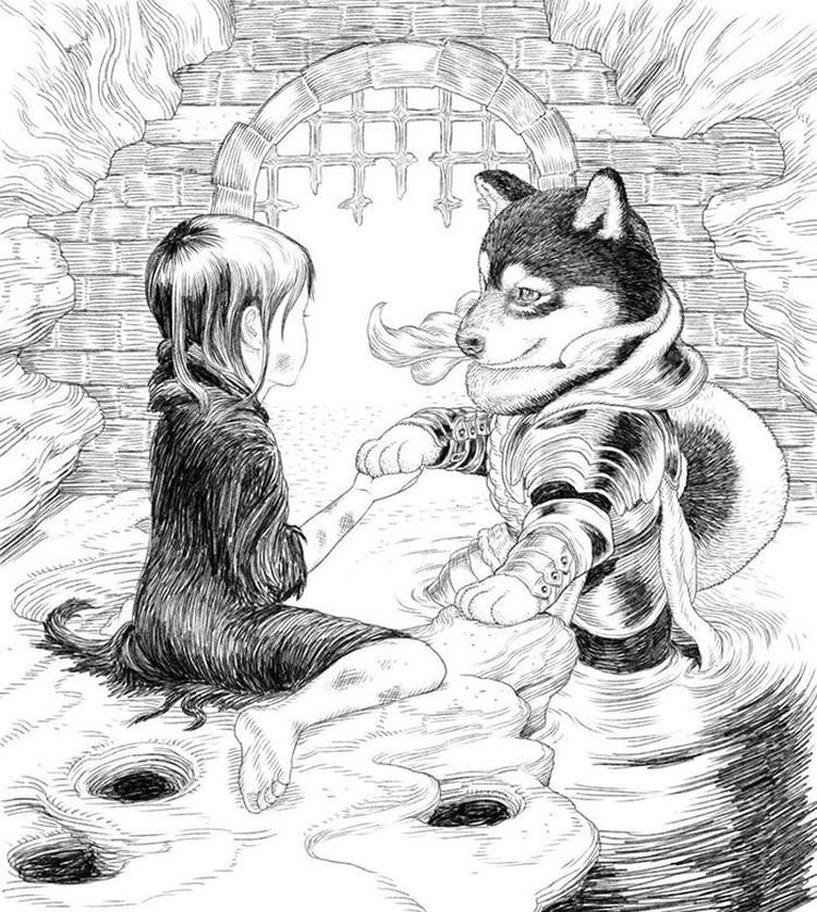 Gemas Ilustrator Jepang Ubah Kucing Dan Anjing Jadi Prajurit Imut
