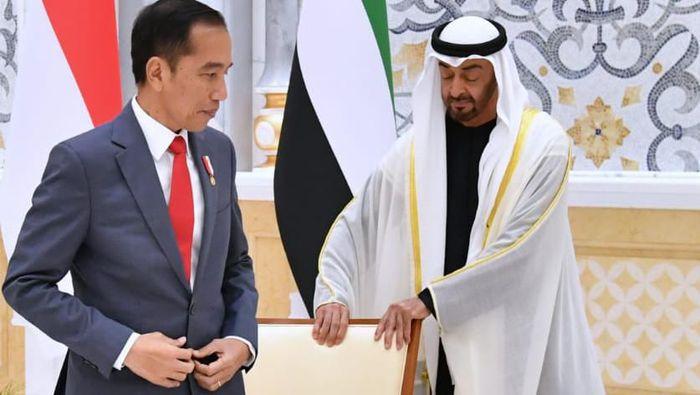 Pertemuan Jokowi dan Putra Mahkota UEA Mohammed bin Zayed di Abu Dhabi (Foto: dok. Biro Pers Setpres)