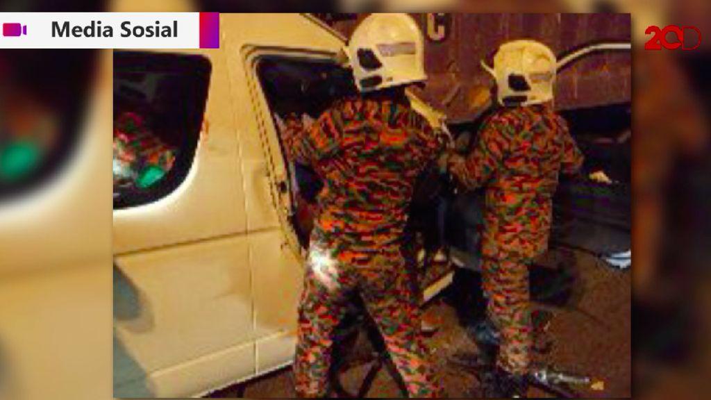 Video Penampakan Mobil Van Kento Momota yang Kecelakaan di Malaysia