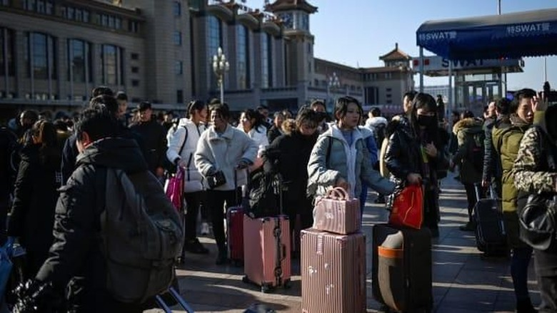 Tradisi Chunyun, mudik atau pulang kampung di China sambut Imlek (Foto: Getty Images/CNN)