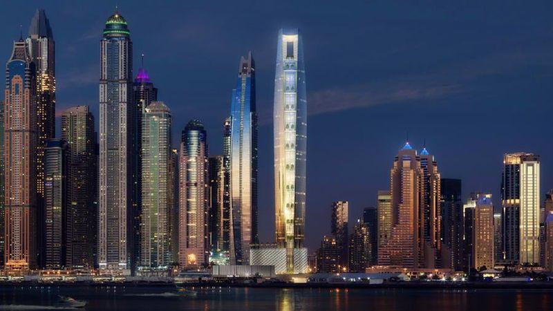 Sebuah perusahaan properti elit di Dubai bernama The First Group sudah membangun sebuah hotel dengan nama The Ciel Tower. The Ciel Tower nantinya akan menjadi hotel tertinggi dunia yang baru. (The First Group)