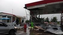 Terjangan Badai Rusak Fasilitas Rest Area KM 166 Tol Cipali