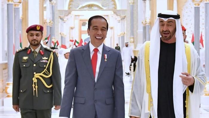 Pertemuan Jokowi dan Putra Mahkota UEA Mohammed bin Zayed di Abu Dhabi