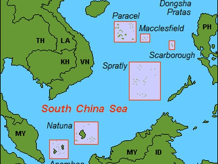 Ilustrasi peta-peta di Laut China Selatan. (Hobe/Holger Behr/Wikimedia Commons)
