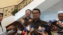 Ahok Temui Moeldoko Bahas Perintah Jokowi Turunkan Harga Gas