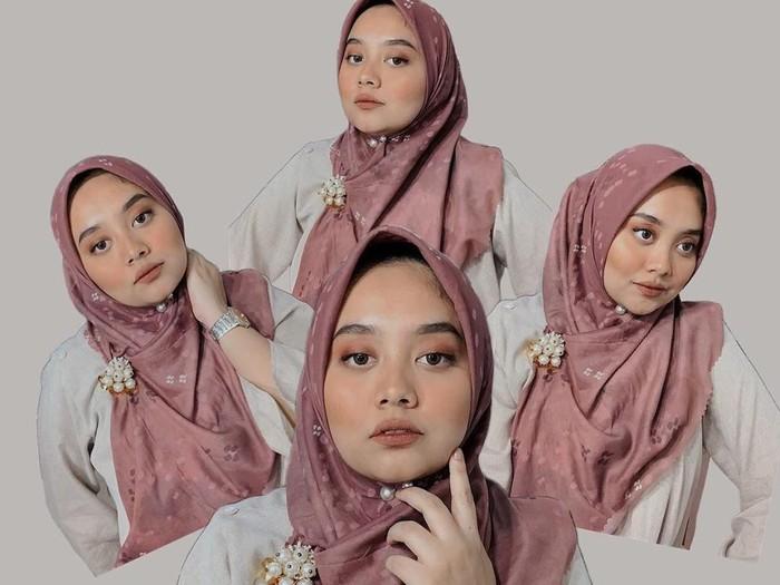 Ilustrasi hijab untuk wajah lebar. Foto: instagram @nabilahatifa