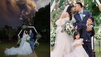 Momen Dramatis Pasangan Menikah di Belakang Gunung Api Taal yang Erupsi