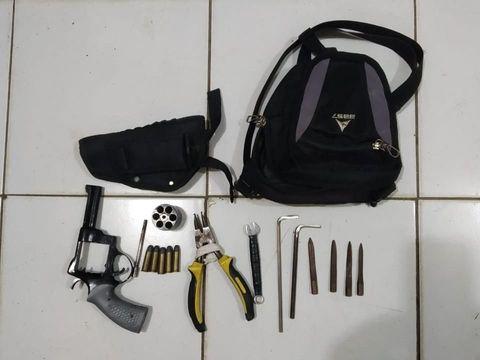 Barang bukti milik residivis curanmor yang ditembak polisi
