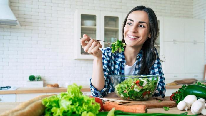 Ilustrasi makan sayur