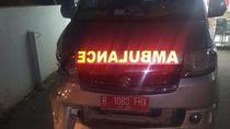 Pemotor di Kabupaten Bekasi Tewas Tertabrak Ambulans