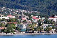 Roseau, ibukota negara Dominika sebagai kota terbesar di sana
