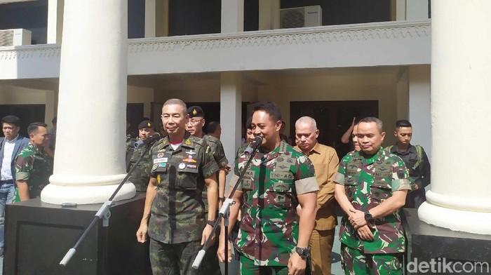 TNI AD dan Tentara Thailand Teken Kerjasama. (Foto: Agus Setyadi/detikcom)