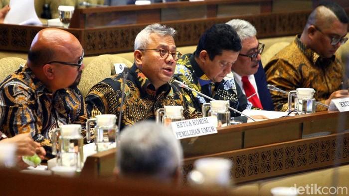 Rapat Komisi II DPR bersama KPU (Lamhot Aritonang/detikcom)