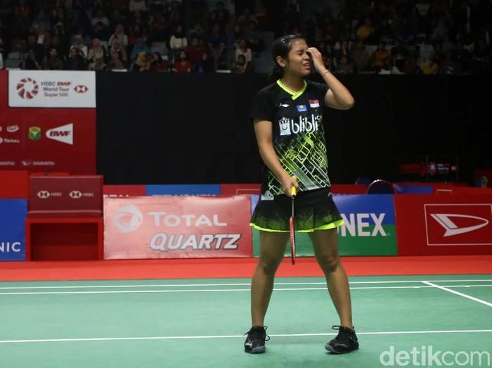 Tunggal putri Indonesia, Gregorius Mariska Tunjung, harus gugur di babak pertama Indonesia Masters 2020. Ia takluk dari wakil Jepang, Akane Yamaguchi.
