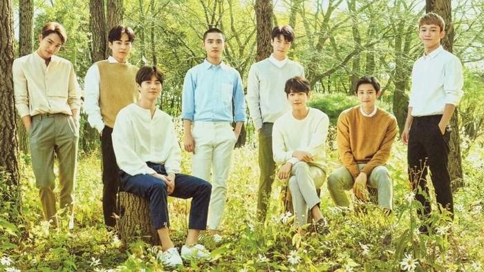 EXO saat jadi brand ambassador Nature Republic. Foto: istimewa